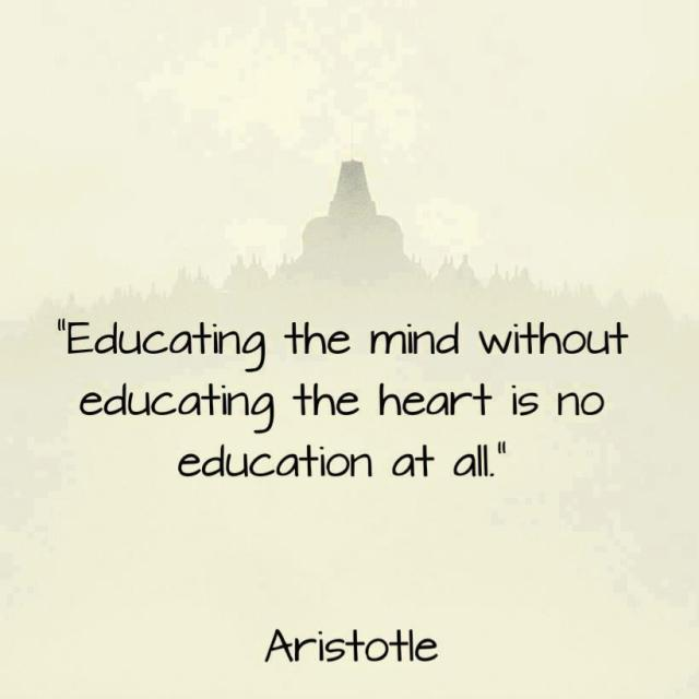 educate mind and heart