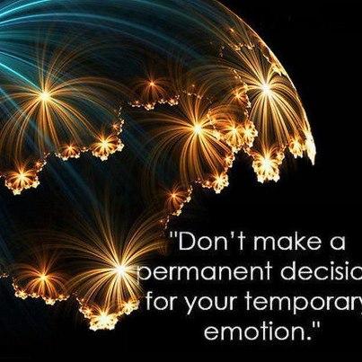 Temporary emotion