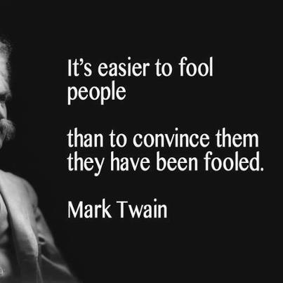 To fool people