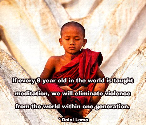 8 year old meditate