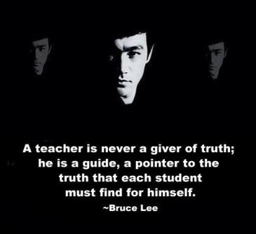 a teacher is never a giver of truth
