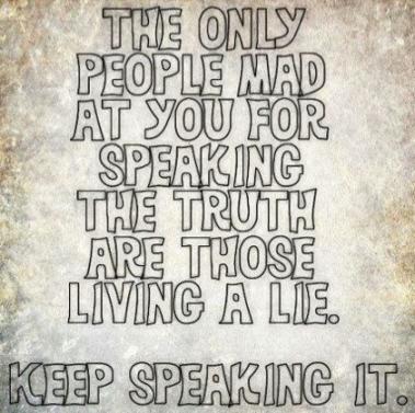keep speaking it