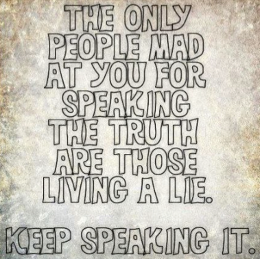 keep speaking it