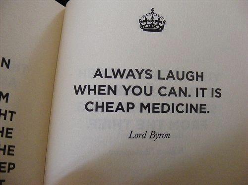 Laugh as medicine