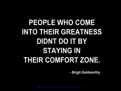 No comfort zone