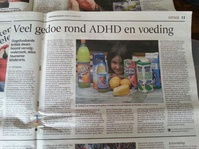 Veel gedoe rond ADHD en voeding