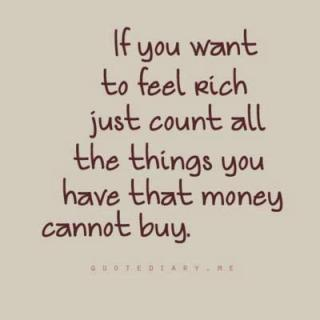 if you want to feel rich just count