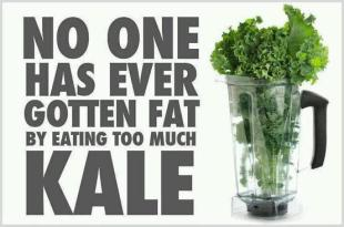 no fat with kale