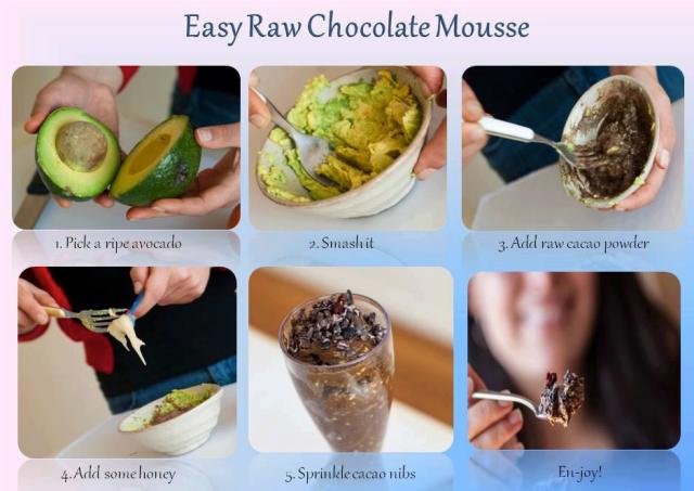 raw chocolat mousse