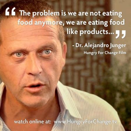 the problem is that we don't eat food
