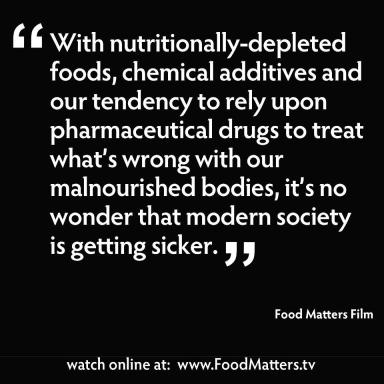 with nutritionally-depleted foods